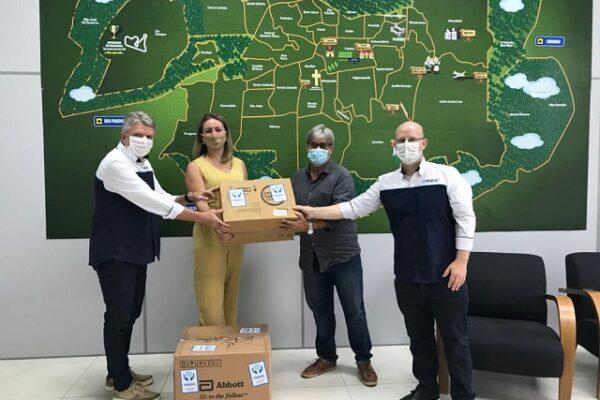 Secretaria de Saúde recebe doações para auxiliar no combate à pandemia